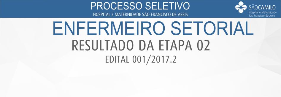 Processo Seletivo - Enfermeiro Setorial