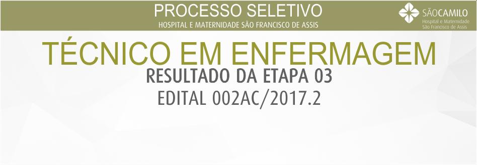 Processo Seletivo – Técnico de Enfermagem-09-2017