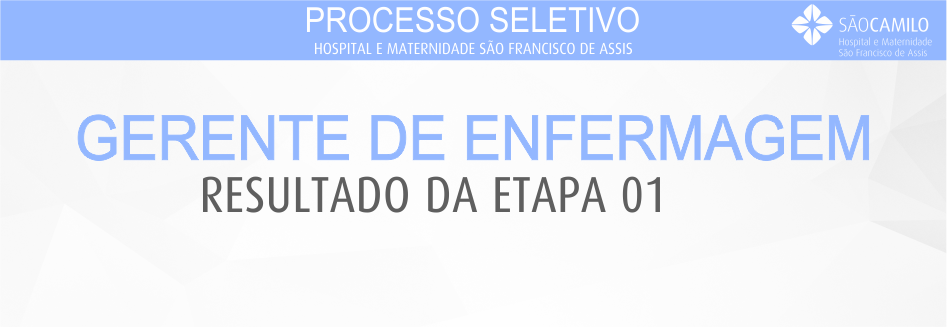Processo Seletivo - Gerente de Enfermagem